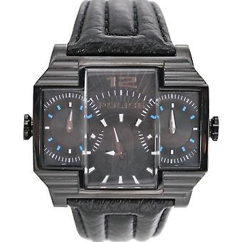 Polisen mens watch armbandsur läder analoga PL. 13088JSB/02
