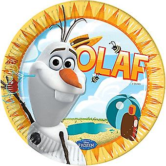 Plate plate OLAF Frozenparty kids birthday party plate 23 cm diameter 8 pieces