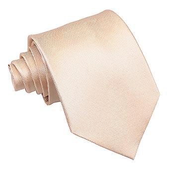 Klassische Krawatte Champagner solide Check