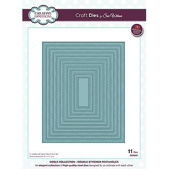 Creative Expressions Craft Dies By Sue Wilson-Double Stitched Noble Rectangles