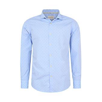Fabio Giovanni Leporano Shirt - Mens Italian Casual Stylish Shirt 100% Cotton - Long Sleeve