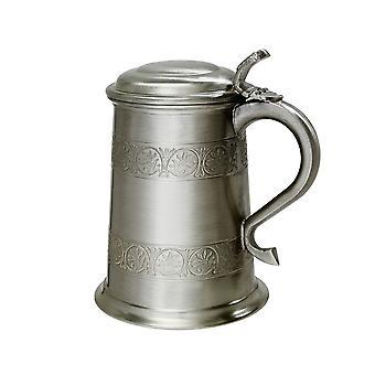 Medieval Antique Finish Pewter 1 Pint Tankard
