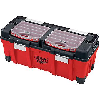 Draper 5178 Expert 660mm Tool Box With Organisers And Tote Tray