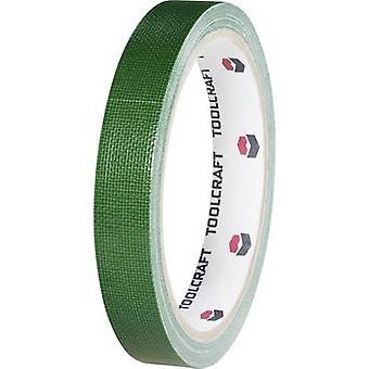 TOOLCRAFT HEB38L10ÜC Cloth tape HEB38L10ÜC Green (L x W) 10 m x 38 mm 1 Rolls