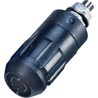 Jack socket Socket, vertical vertical Pin diameter: 4 mm Black S