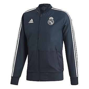 2018-2019 real Madrid Adidas veste de présentation (gris foncé)