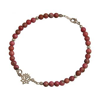 Ladies - earrings - 925 - Lotus Flower - gemstone - pink - YOGA