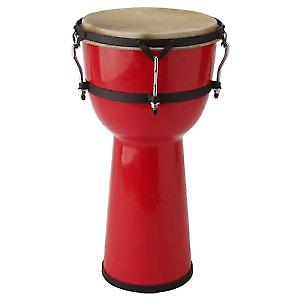 Stagg Red 8inch Fibreglass Djembe Drums