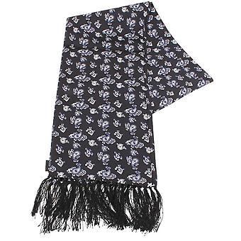 Knightsbridge Neckwear Paisley Silk Scarf - Black/Blue