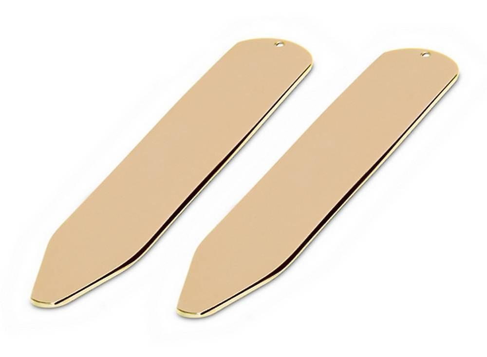 David Van Hagen Shiny Collar Stiffeners - Gold