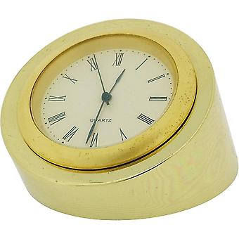 Gift Time Products Small Round Desk Clock - Gold