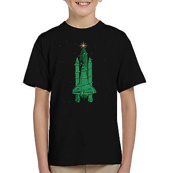Camiseta de la NASA Challenger Shuttle árbol de Navidad infantil