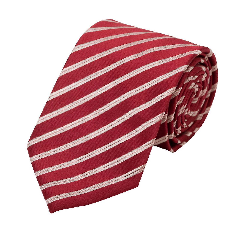 Tie tie tie tie 8cm dark red red Fabio Farini white striped