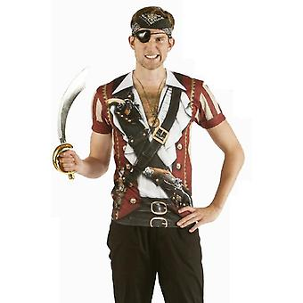 T-Shirt pirate pirate shirt Mr costume Pirate Costume men's Sea robber T-shirt