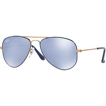 Ray - Ban Aviator Junior blau gespiegelt