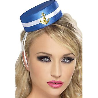 Pill Box Sailor Hat, One Size