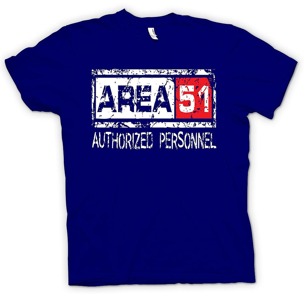 Mens T-shirt - Area 51 Authorised Personnel - UFO Funny Aliens