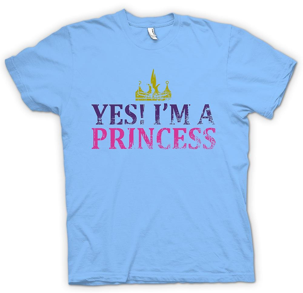 Mens T-shirt - Yes Im A Princess - Funny