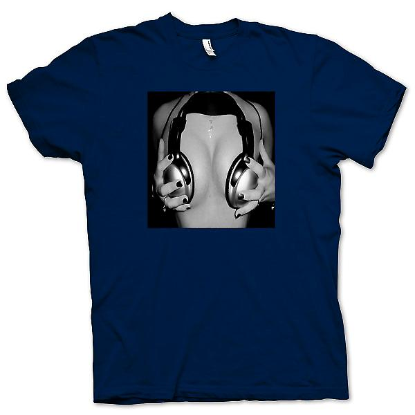 Mens T-shirt - DJ Headphones on Women