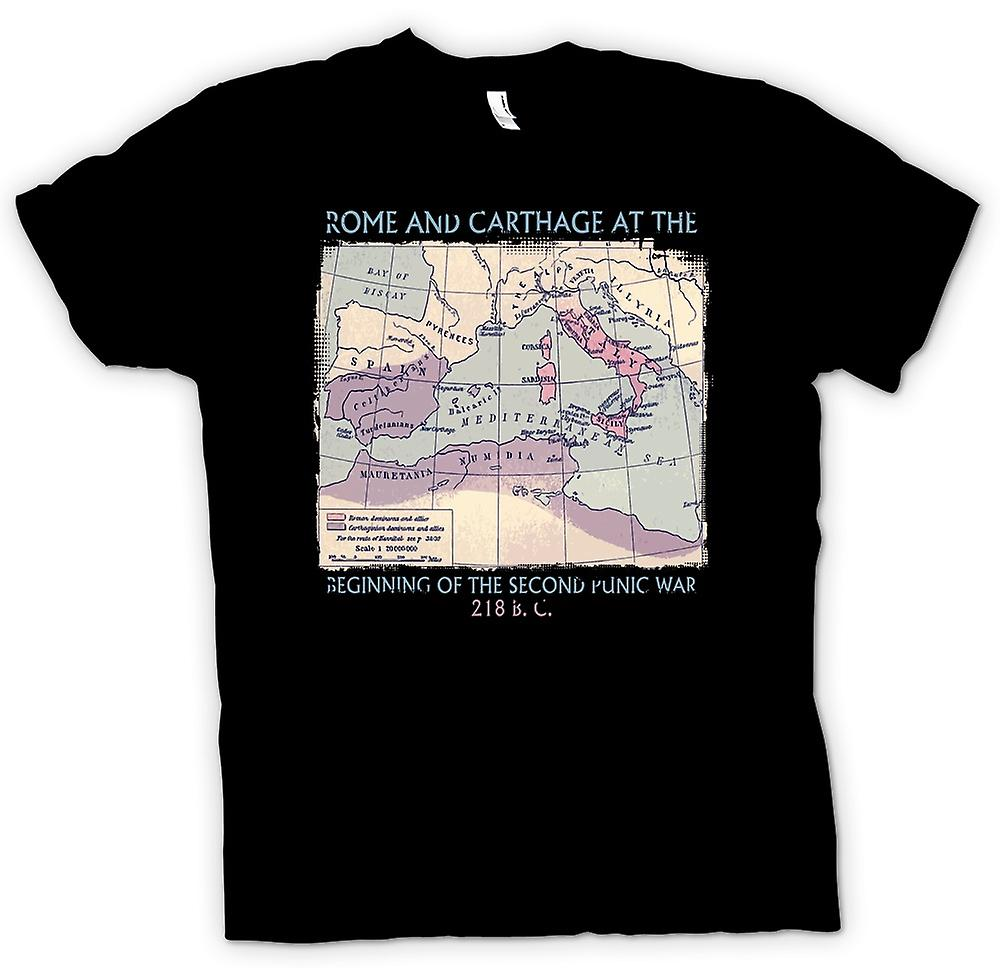 Womens T-shirt - Rome And Carthage - Second Punic War