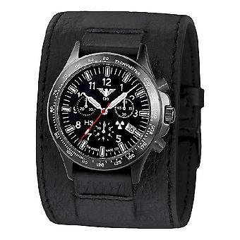 KHS watches mens watch black platoon titanium chronograph KHS. BPTC. LK
