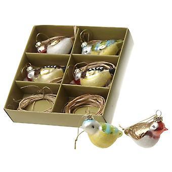 Heaven Sends Glass Bird Christmas Tree Decorations