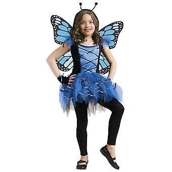Ballerina Butterfly Blue Fairy Pixie Sprite Dress Up Girl kostym