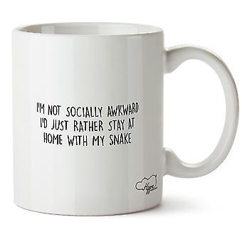 Hippowarehouse ik ben niet sociaal onhandige ik gewoon liever thuis met mijn slang afgedrukt mok Cup keramiek 10oz