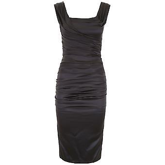 Dolce E Gabbana Black Silk Dress