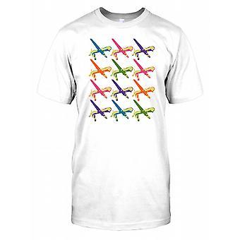 Predator Drones Multi Coloured Pop Art Kids T Shirt