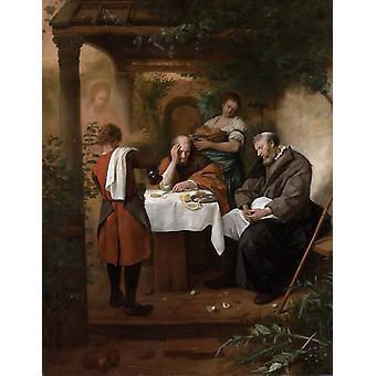 Supper at Emmaus,Jan Steen,50x40cm