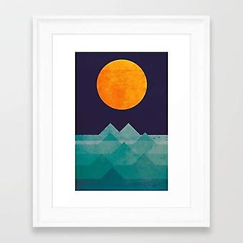 The ocean, the sea, the wave - night scene frame