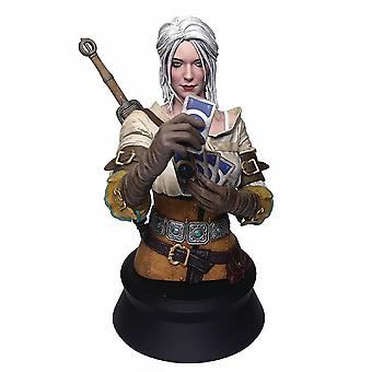 The Witcher 3: The Wild Hunt bust CIRI playing Gwent from PolyStone (resin) by Dark Horse Comics, in gift packaging.