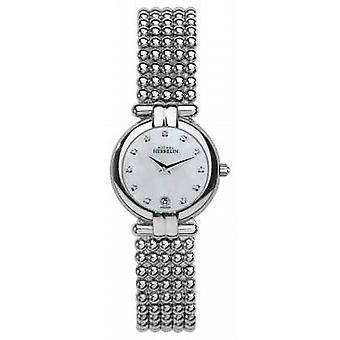 Michel Herbelin Womens Steel Perle, Crystal, Pearl Dial 16873/B59 Watch