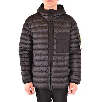 Stone Island Black Nylon Outerwear Jacket