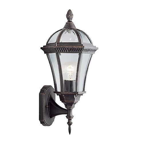 Searchlight 1565 Capri Traditional Outdoor Wall Lantern In Rustic Brown