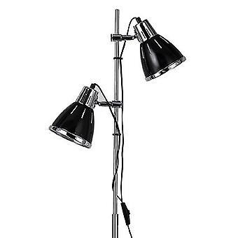 Ideal Lux-Elvis Black i chrom regulowana Lampa podłogowa IDL001197