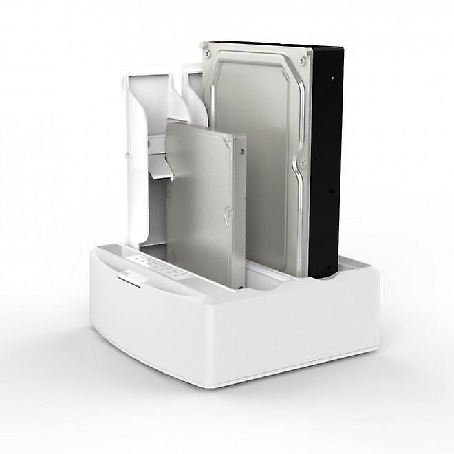 SD312 Dual Bay USB Docking Station for SATA Drive White