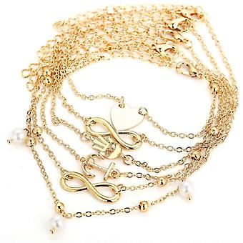 5pc anklet chain set