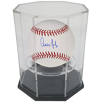 OnDisplay Deluxe UV-geschützte Baseball/Tennis/Softball Display Case-Octagon Black Base