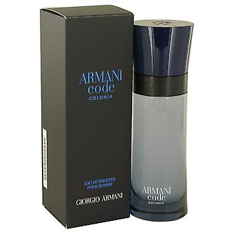 Armani Code Colonia by Giorgio Armani Eau De Toilette Spray 2.5 oz / 75 ml (Men)