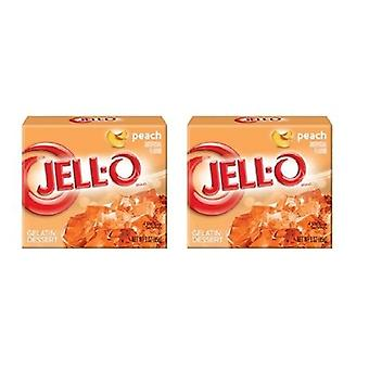 Jell-O Peach Gelatin Dessert Mix 2 Box Pack