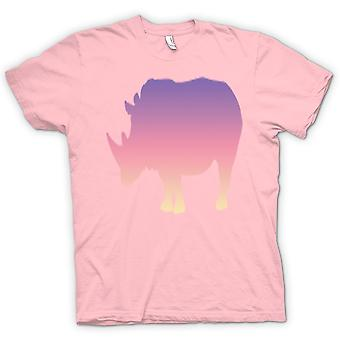 Bambini t-shirt-Rainbow Rhino psichedelico