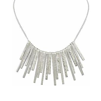 Eternal Collection Ice Queen Midi Sterling Silver Icicle Drop Necklace
