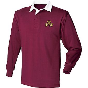 South Irish Horse - Licensed British Army Embroidered Long Sleeve Rugby Shirt
