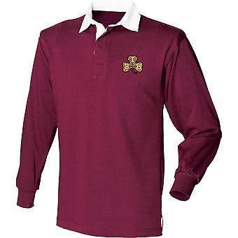 Südirisches Pferd - lizenzierte britische Armee bestickt Langarm Rugby Shirt
