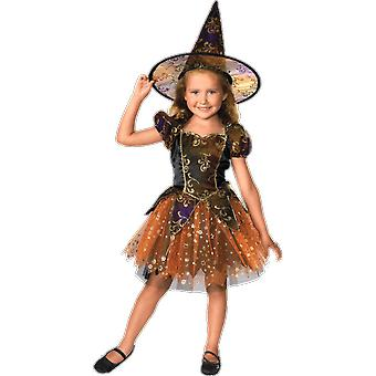 Girls Age 1 to 6 Magical Witch Costume Film World Book Day Halloween Fancy Dress