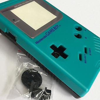Two tone replacement housing shell case mod kit for nintendo game boy dmg-01 - teal & black