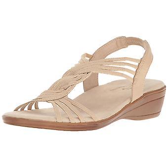 Easy Street Womens Natara Fabric Open Toe Casual Slingback Sandals