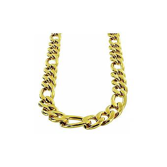 Necklace Gold Stainless Steel Figaro link 12mm